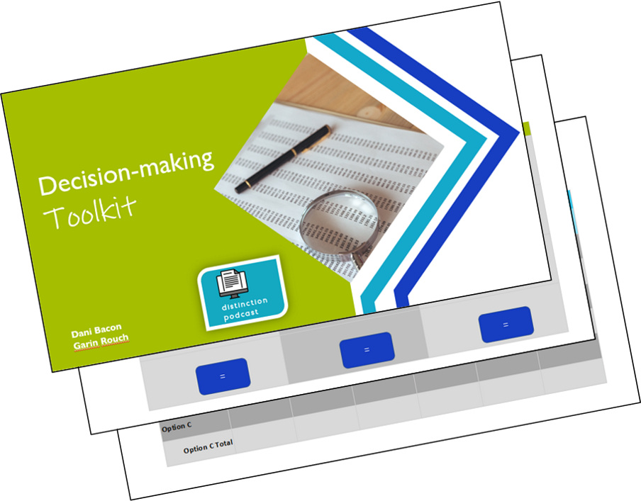 Cover page for decision-making toolkit